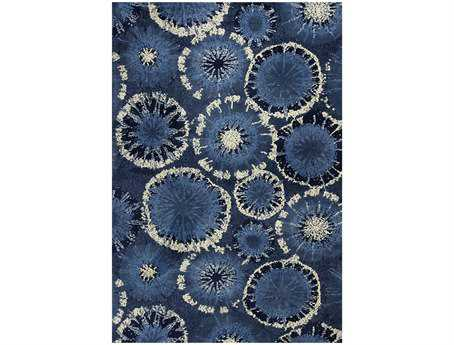KAS Rugs Allure Blue Starburst Area Rug