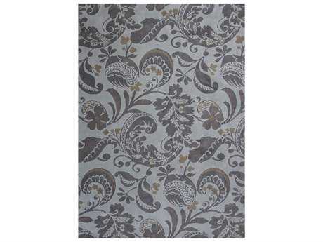 KAS Rugs Allure Grey Rectangular Area Rug