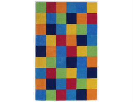 KAS Rugs Kidding Around Boy's Color Blocks Area Rug