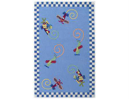 KAS Rugs Kidding Around Flying Fun Area Rug