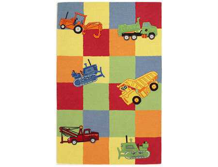 KAS Rugs Kidding Around Trucks Galore Area Rug
