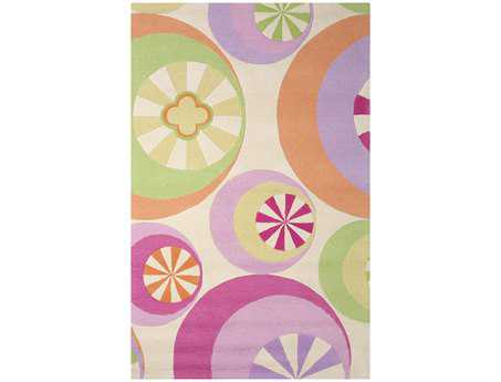 KAS Rugs Kidding Around Pastel Peppermints Area Rug