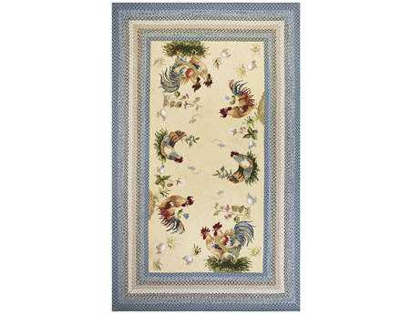 KAS Rugs Fairfax Rooster Pen Ivory 7'6'' x 9'6'' Area Rug