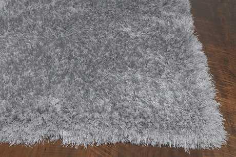 KAS Rugs Fina Silver Silky Shag Area Rug