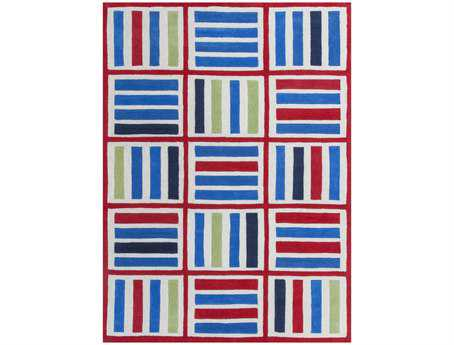 KAS Rugs Kozy Kids Blue & Red Elements Area Rug