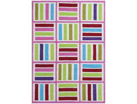 KAS Rugs Kozy Kids Ivory & Pink Elements Area Rug