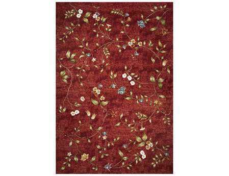KAS Rugs Horizon Red Floral Area Rug