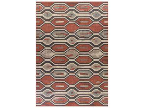 KAS Rugs Vista Rust Rectangular Area Rug
