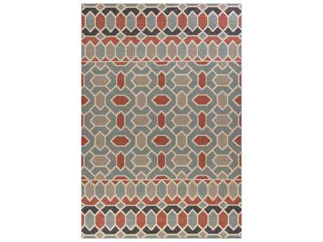 KAS Rugs Vista Slate Blue Rectangular Area Rug