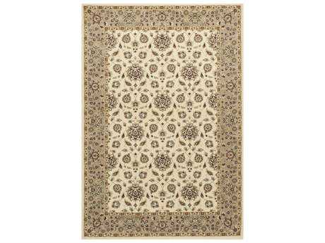 KAS Rugs Kingston Ivory & Beige Rectangular Area Rug KG6407