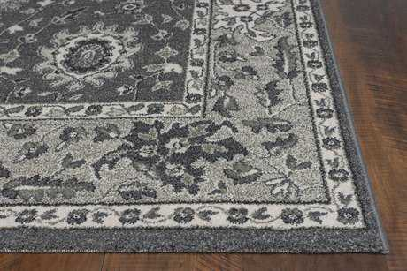 KAS Rugs Pesha Charcoal & Grey Agra Area Rug