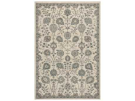 KAS Rugs Pesha Oatmeal & Teal Rectangular Area Rug