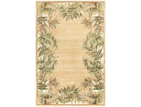 KAS Rugs Ruby Beige & Ivory Natural Fauna Area Rug