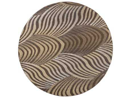 KAS Rugs Donny Osmond Home Timeless Brown 7'7'' Dia Round Area Rug