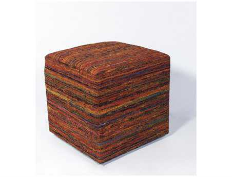 KAS Rugs Sienna Viscose Cube Pouf