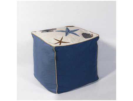 KAS Rugs Seashells Cube Pouf