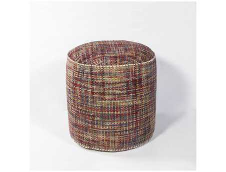 KAS Rugs Autumn Textures Cylinder Pouf