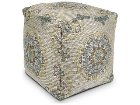 Kas Rugs Ivory Cube Pouf