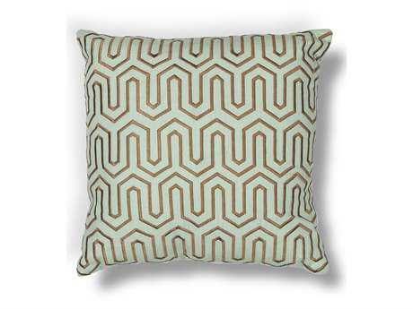 Kas Rugs Seafoam & Choco Square Pillow