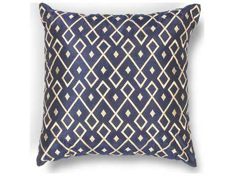 Kas Rugs Gold & Navy Square Pillow