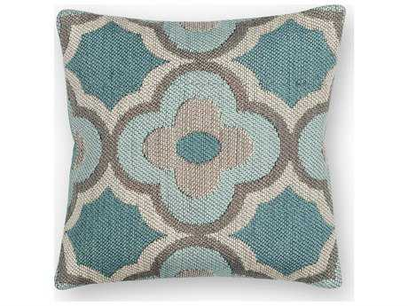 Kas Rugs Grey & Blue Square Pillow