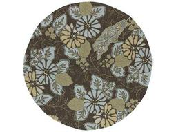Kaleen Home & Porch Round Robin's Egg Area Rug