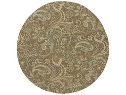 Kaleen Home & Porch Round Mocha Area Rug