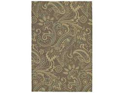 Kaleen Home & Porch Rectangular Mocha Area Rug