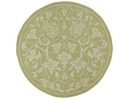 Kaleen Home & Porch Round Celery Area Rug