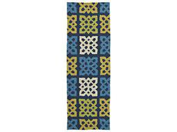 Kaleen Home and Porch Blue 2' x 6' Rectangular Runner Rug