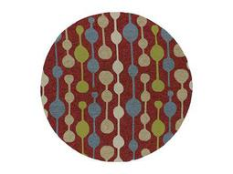 Kaleen Home & Porch Round Red Area Rug