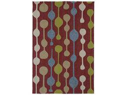 Kaleen Home & Porch Rectangular Red Area Rug