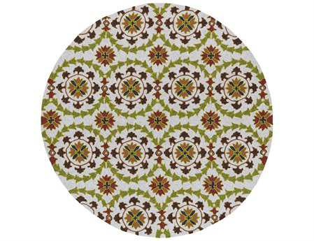 Kaleen Home & Porch Round Brown Area Rug