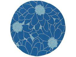 Kaleen Home & Porch Round Blue Area Rug
