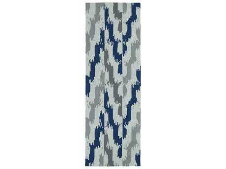 Kaleen Habitat Blue 2'6'' x 8' Rectangular Runner Rug