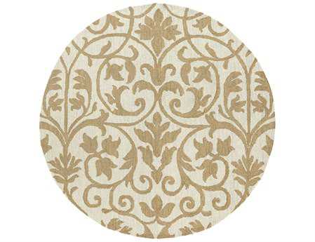 Kaleen Carriage Round Brown Area Rug