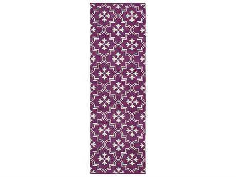 Kaleen Brisa Purple 2' x 6' Rectangular Runner Rug