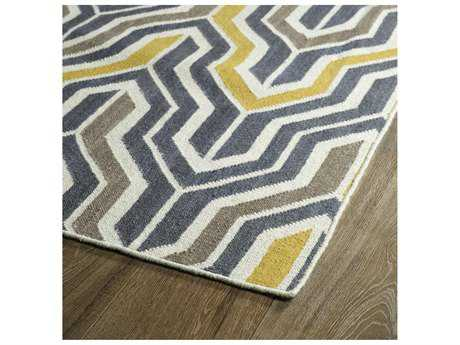 Kaleen Glam Yellow Rectangular Area Rug