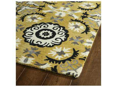 Kaleen Global Inspirations Yellow Rectangular Area Rug