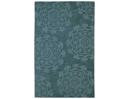 Kaleen Imprints Classic Rectangular Turquoise Area Rug