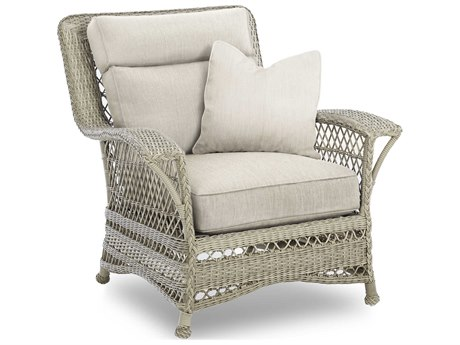 Klaussner Willow Wicker Cushion Lounge Chair