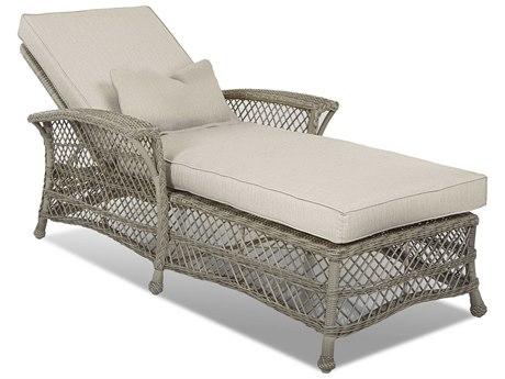 Klaussner Willow Wicker Cushion Chaise Lounge