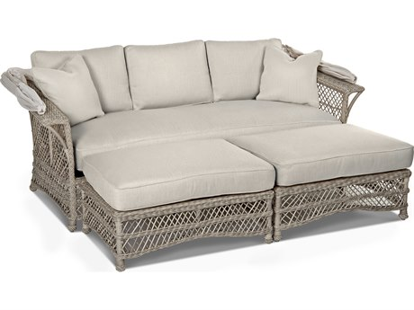 Klaussner Willow Wicker Cushion Lounge Bed PatioLiving