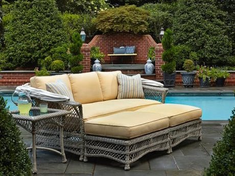 Klaussner Willow Wicker Cushion Lounge Set