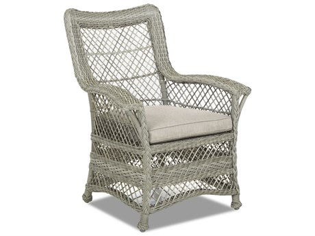 Klaussner Willow Wicker Cushion Dining Chair (Sold in 2)