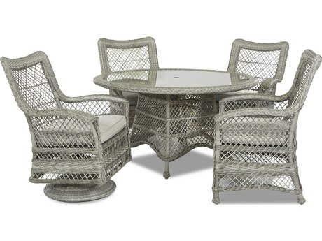 Klaussner Willow Antique Harbor Wicker Five-Piece Dining Set