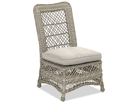 Klaussner Willow Antique Harbor Wicker Cushion Dining Chair (Set of 2)