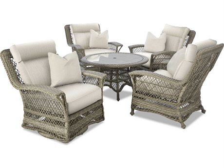 Klaussner Willow Wicker Dining Set