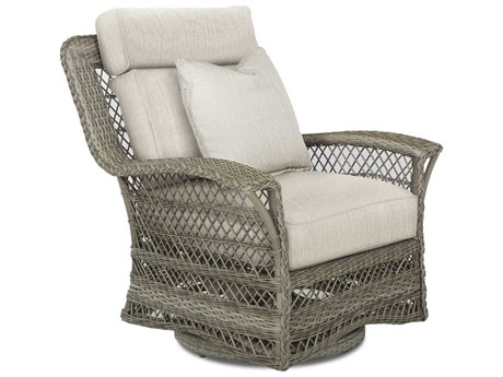Klaussner Willow Antique Harbor Wicker Cushion Lounge Chair