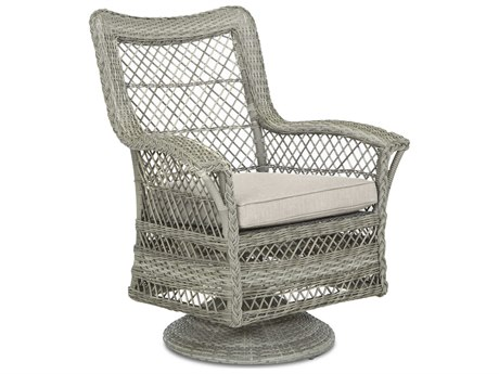 Klaussner Willow Flagship Tide / Antique Harbor Wicker Cushion Lounge Chair